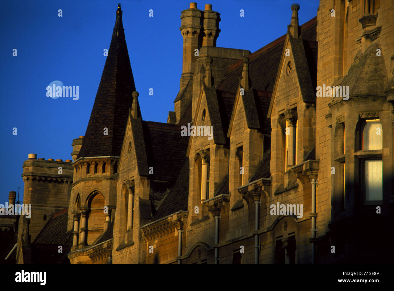 Balliol College Oxford by moonlight - Stock Image