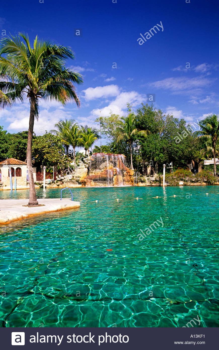Venetian Pool Coral Gables Miami Florida USA - Stock Image