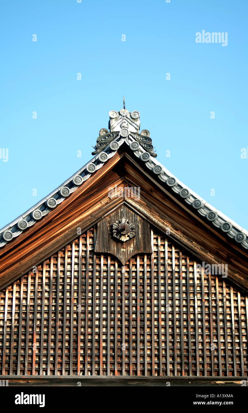 Temple roof at Daitokuji Temple Kyoto Japan - Stock Image