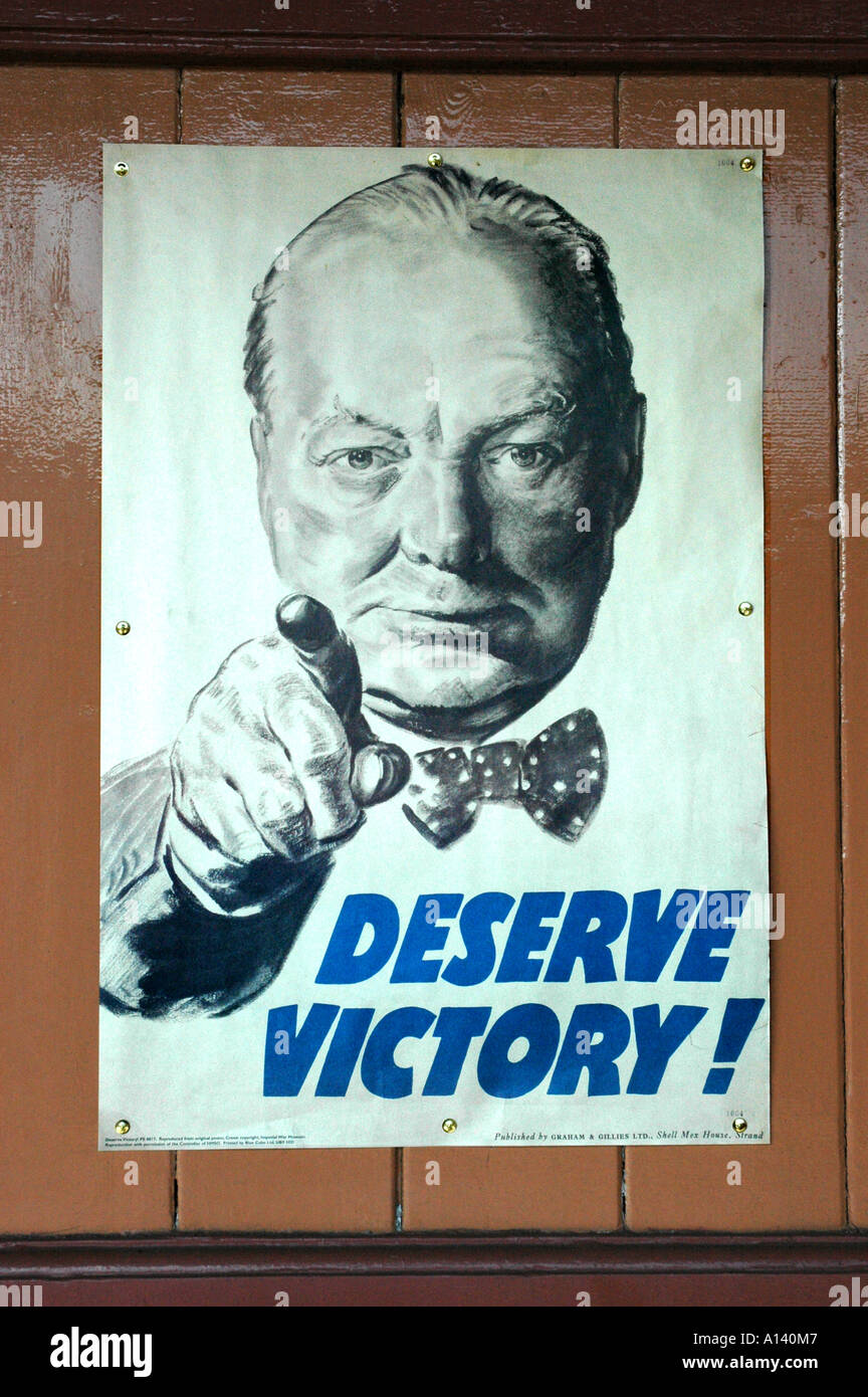 Authentic war poster (Deserve Victory) - Stock Image