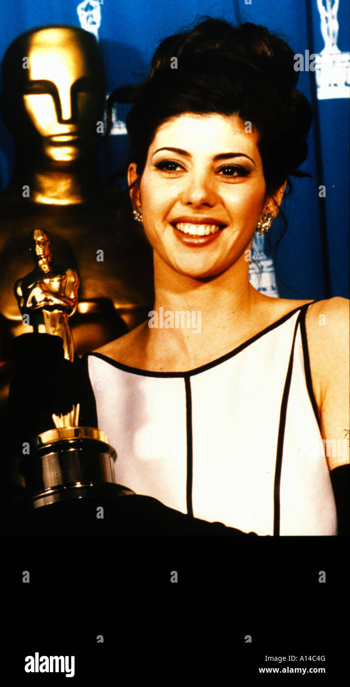 Marisa Tomei Oscar for the performance by an actress in a supporting role in 1992 for My Cousin Vinny - Stock Image