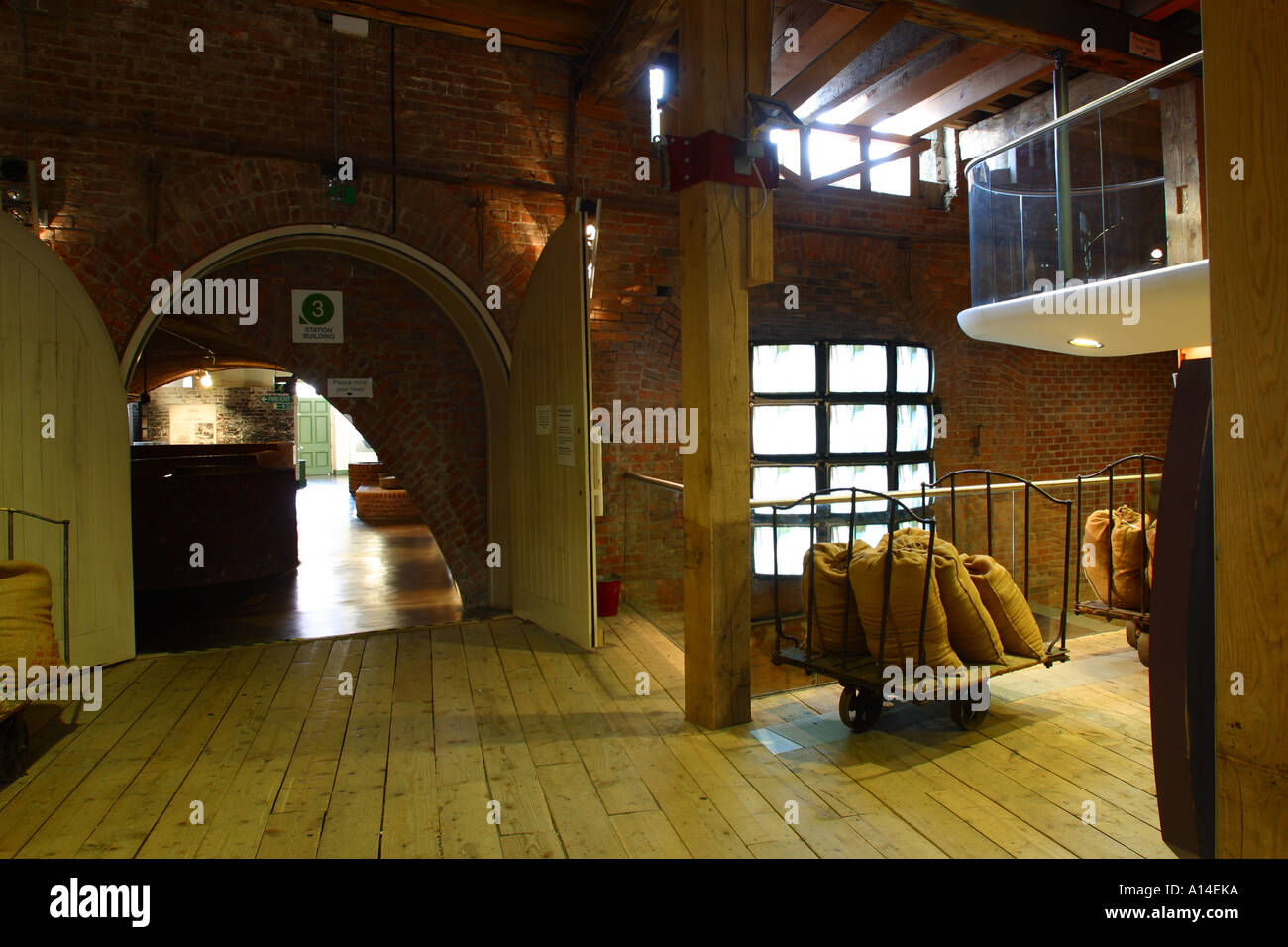 Manchester Museum of Science and Industry restored Victorian sewers - Stock Image
