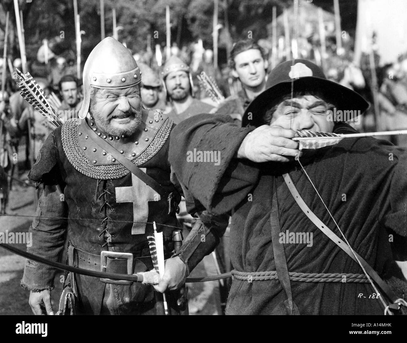 The Adventures of Robin Hood Year 1938 Directors Michael Curtiz and William Keighley Errol Flynn - Stock Image