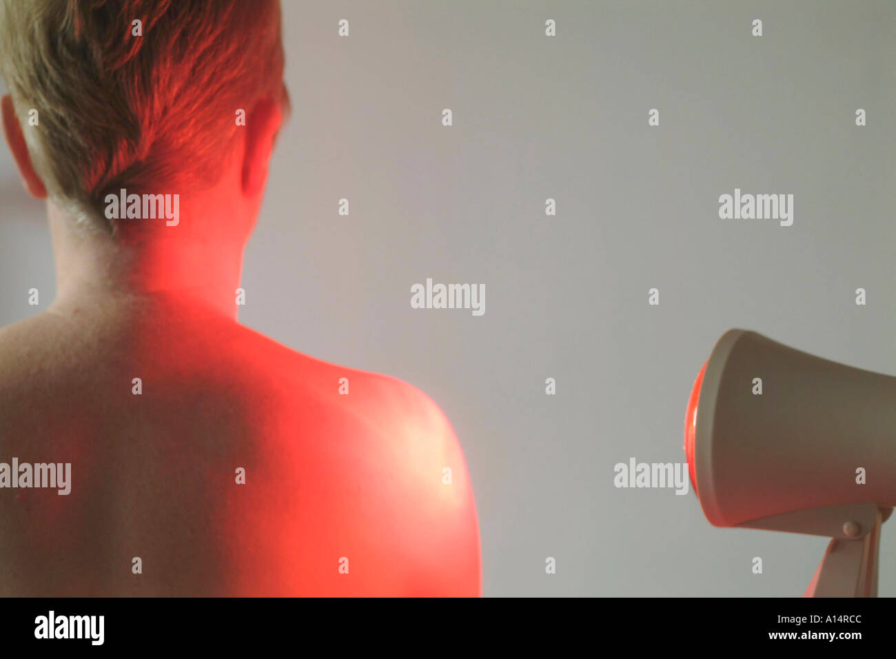 handling with warming irradiation - Stock Image