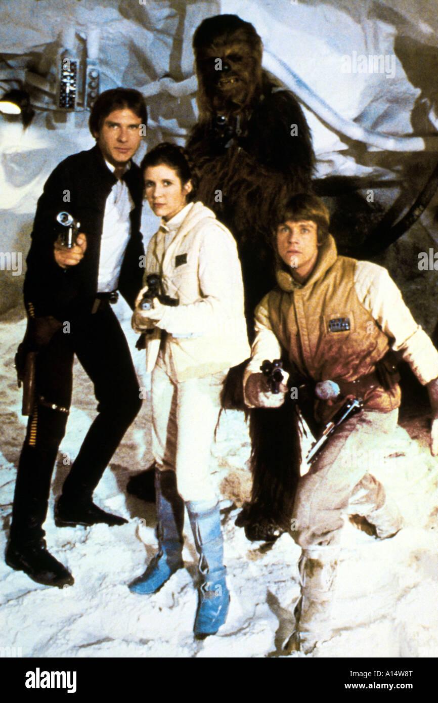Empire strikes back 1980 Irvin Kerschner Harrison Ford Mark Hamill Carrie Fisher - Stock Image