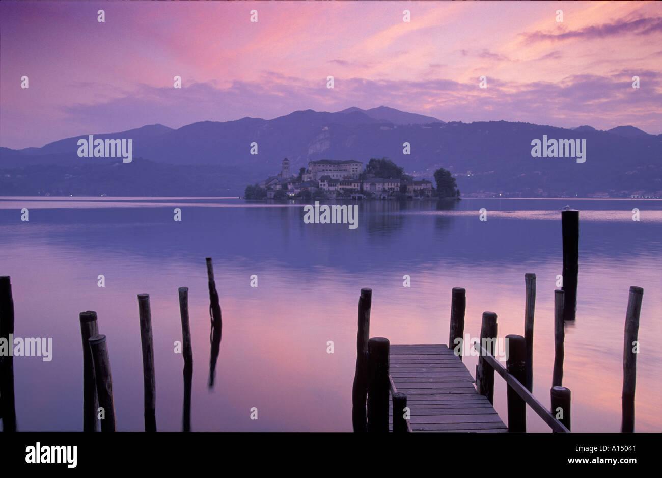 Lake Orta Picardy Italy Stock Photo