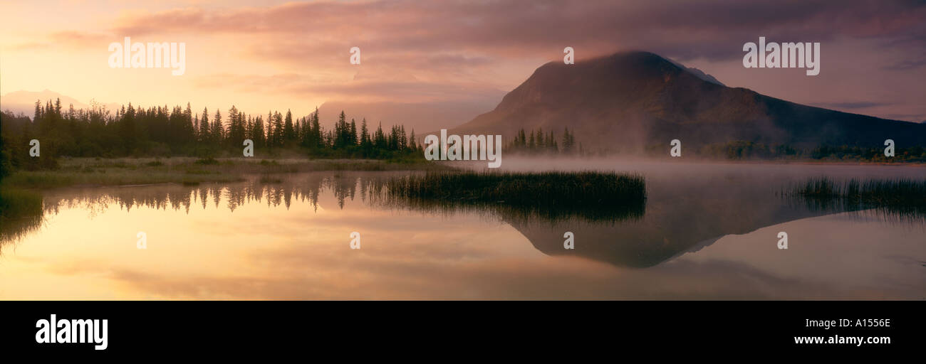 Mount Rundle Banff National Park Alberta Canada - Stock Image