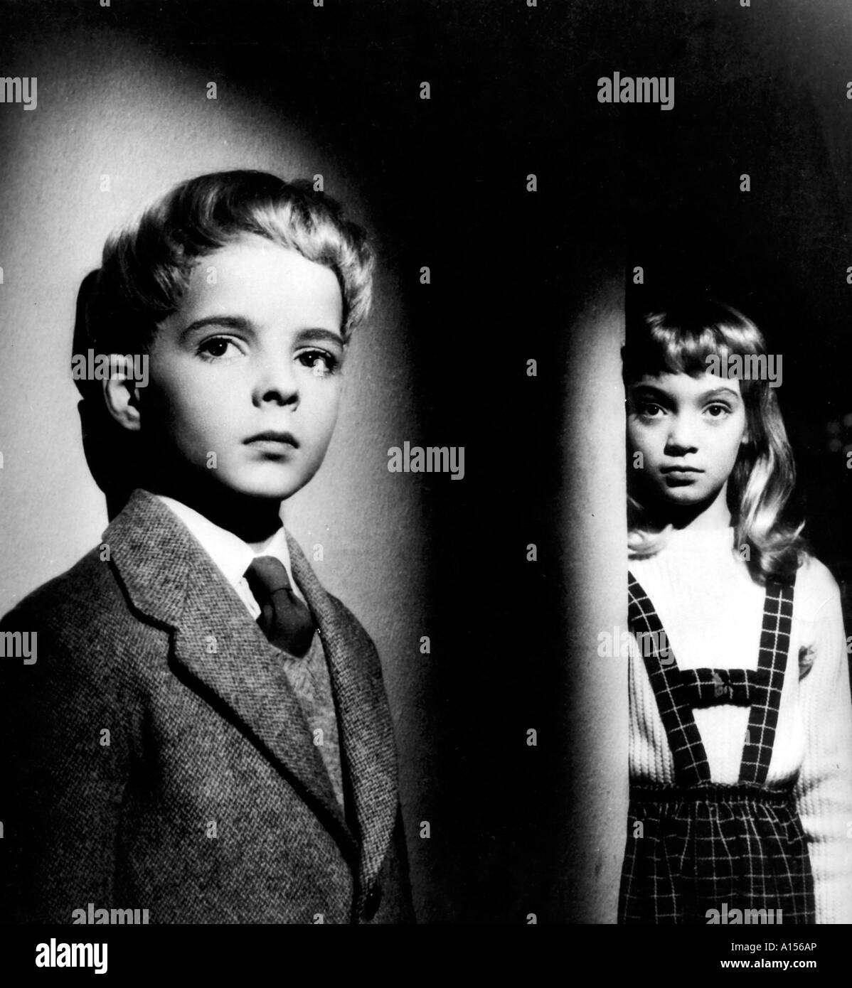 The Village Of The Damned Year 1960 Director Wolf Rilla Based upon John Wyndham s book - Stock Image