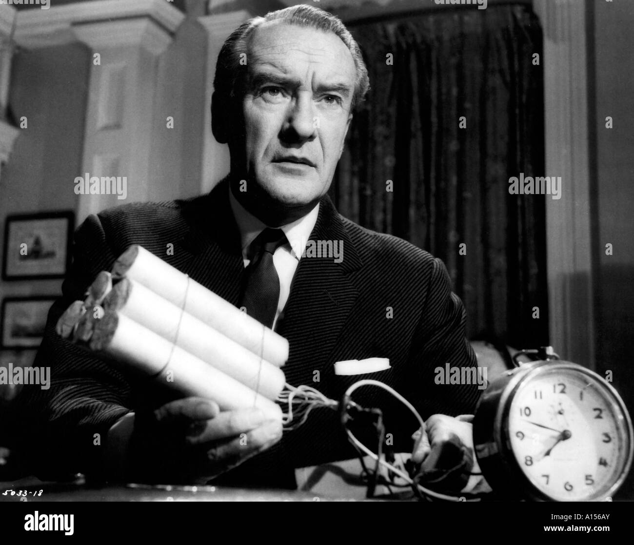 The Village Of The Damned Year 1960 Director Wolf Rilla George Sanders Based upon John Wyndham s book - Stock Image
