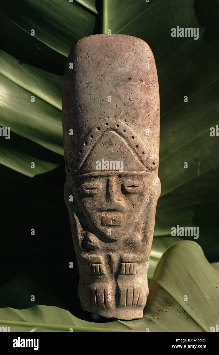 Indian artefact pre Columbian from the Hodges Collection Haiti Caribbean A Woolfitt - Stock Image