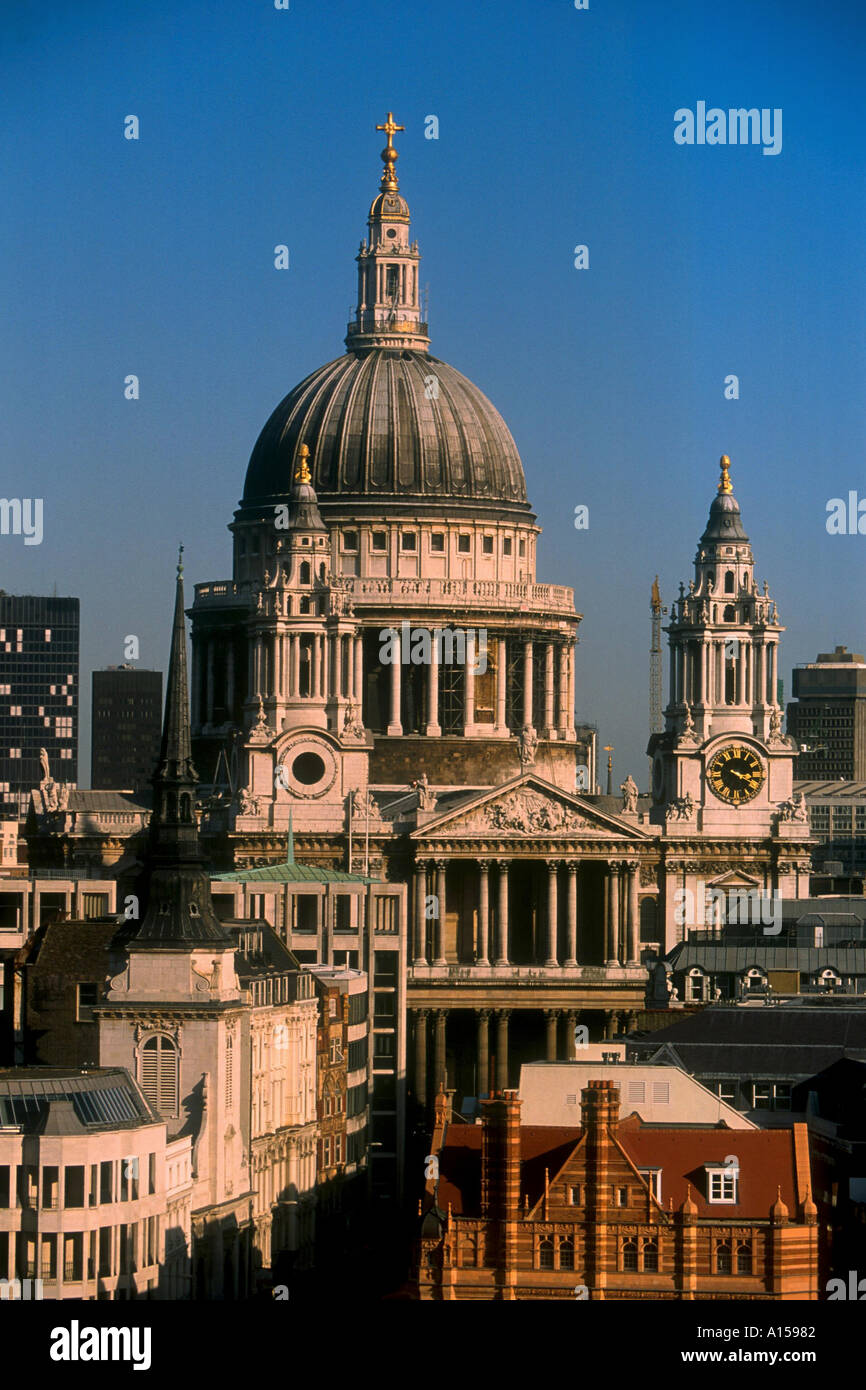 St Paul s Cathedral London England UK A Woolfitt - Stock Image