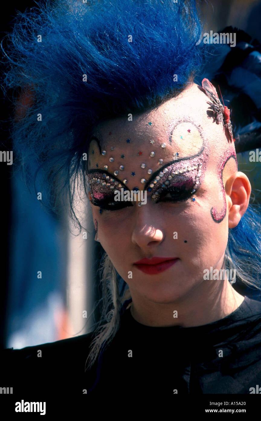 Portrait of a punk Kensington London England UK A Woolfitt - Stock Image