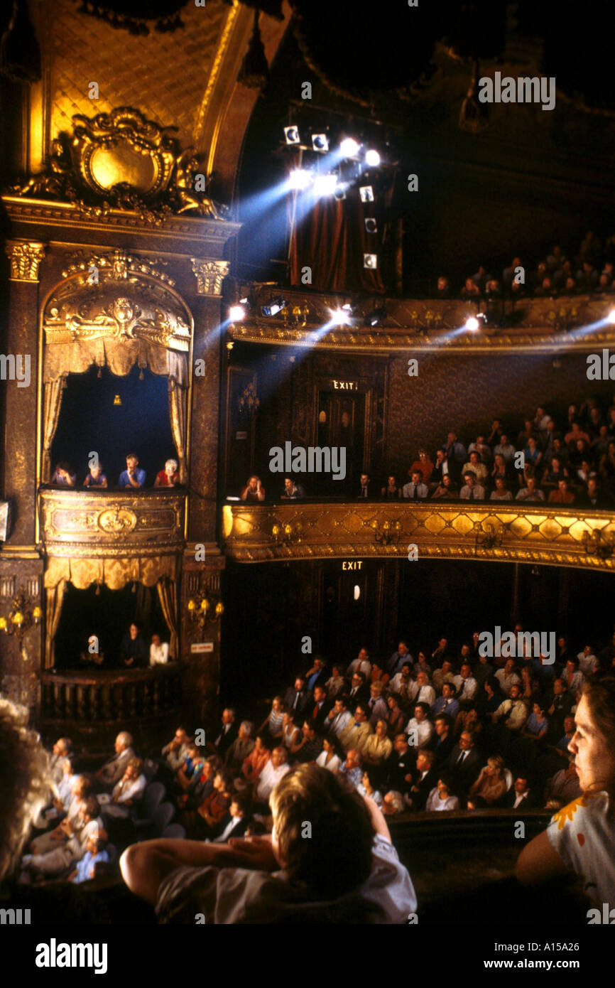 The audience at the Theatre Royal Haymarket London England UK A Woolfitt - Stock Image