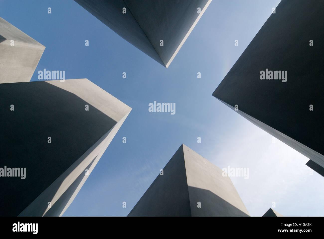Holocaust memorial in Berlin Stock Photo