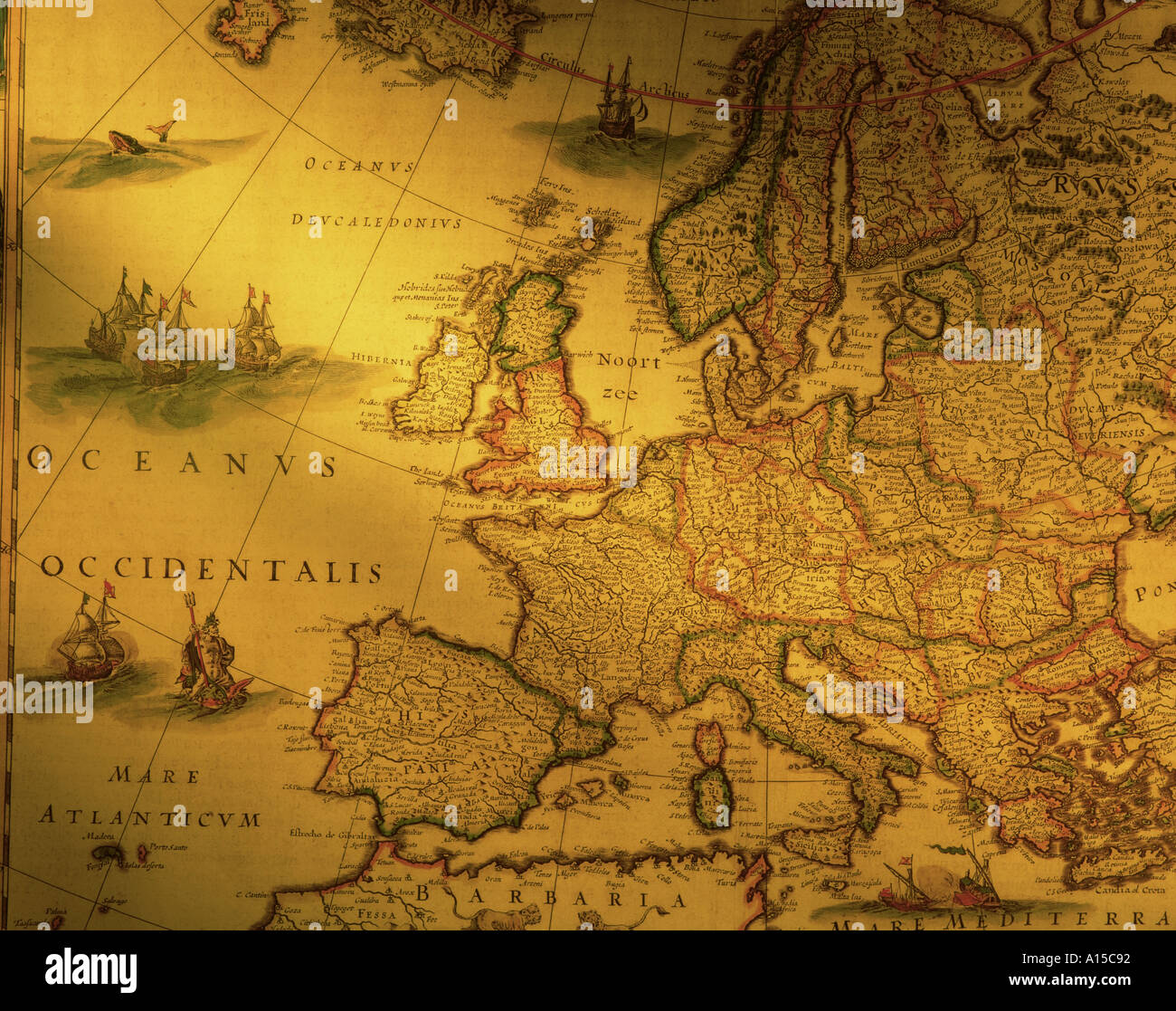 Antique Map of Europe Stock Photo: 89234   Alamy