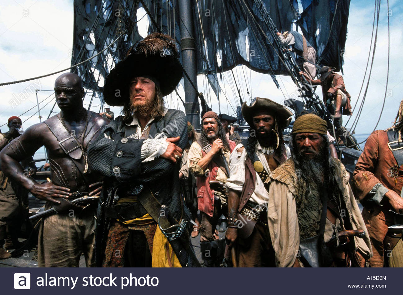 Pirates of the caribbean the curse of the Black Pearl Year 2003 Director Gore Verbinski Actor Isaac C Singleton - Stock Image