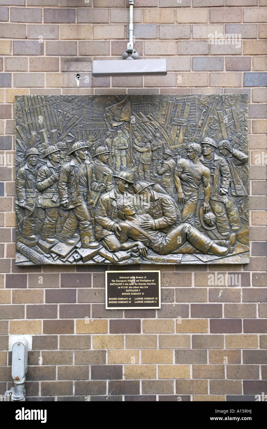 Battalion 9 s commemorative plaque to fallen comerades 09 11 01 - Stock Image