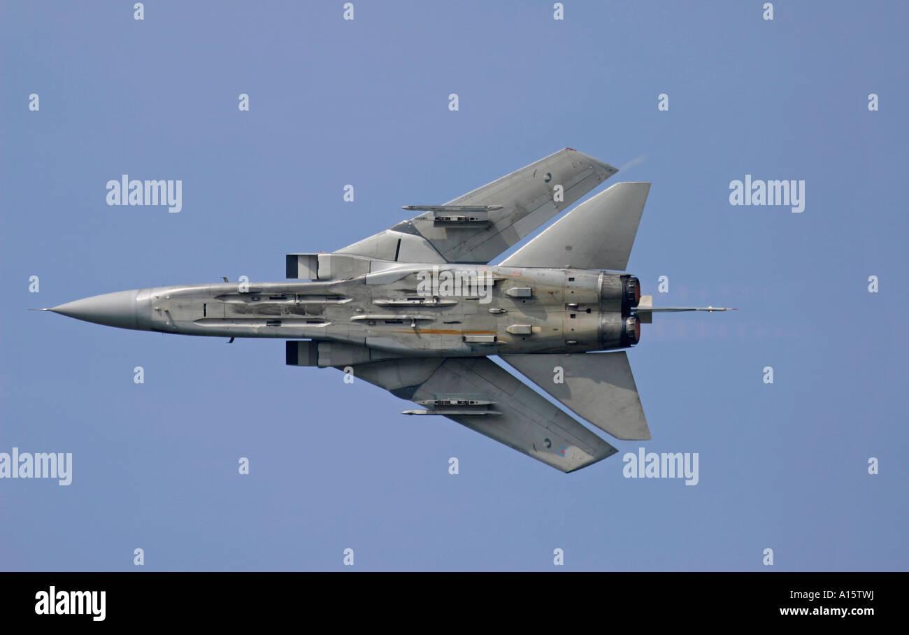 RAF Tornado GR4 in flight with swept wings - Stock Image