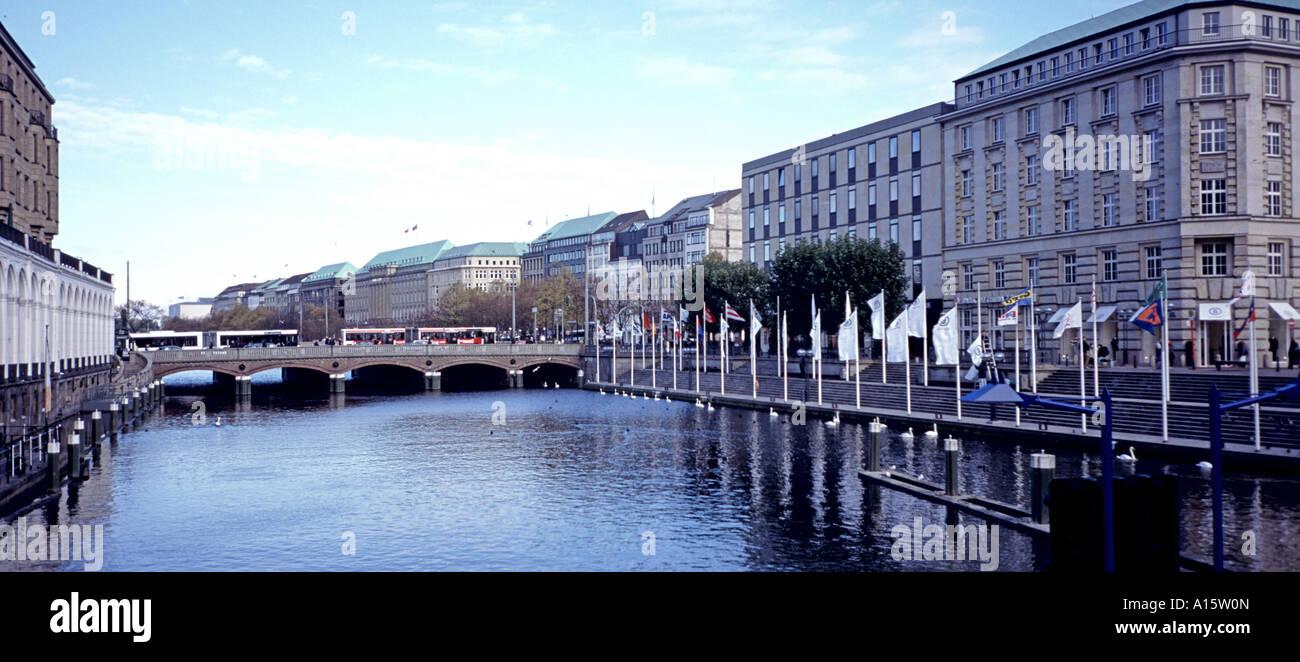 Hamburg city centre center Germany - Stock Image