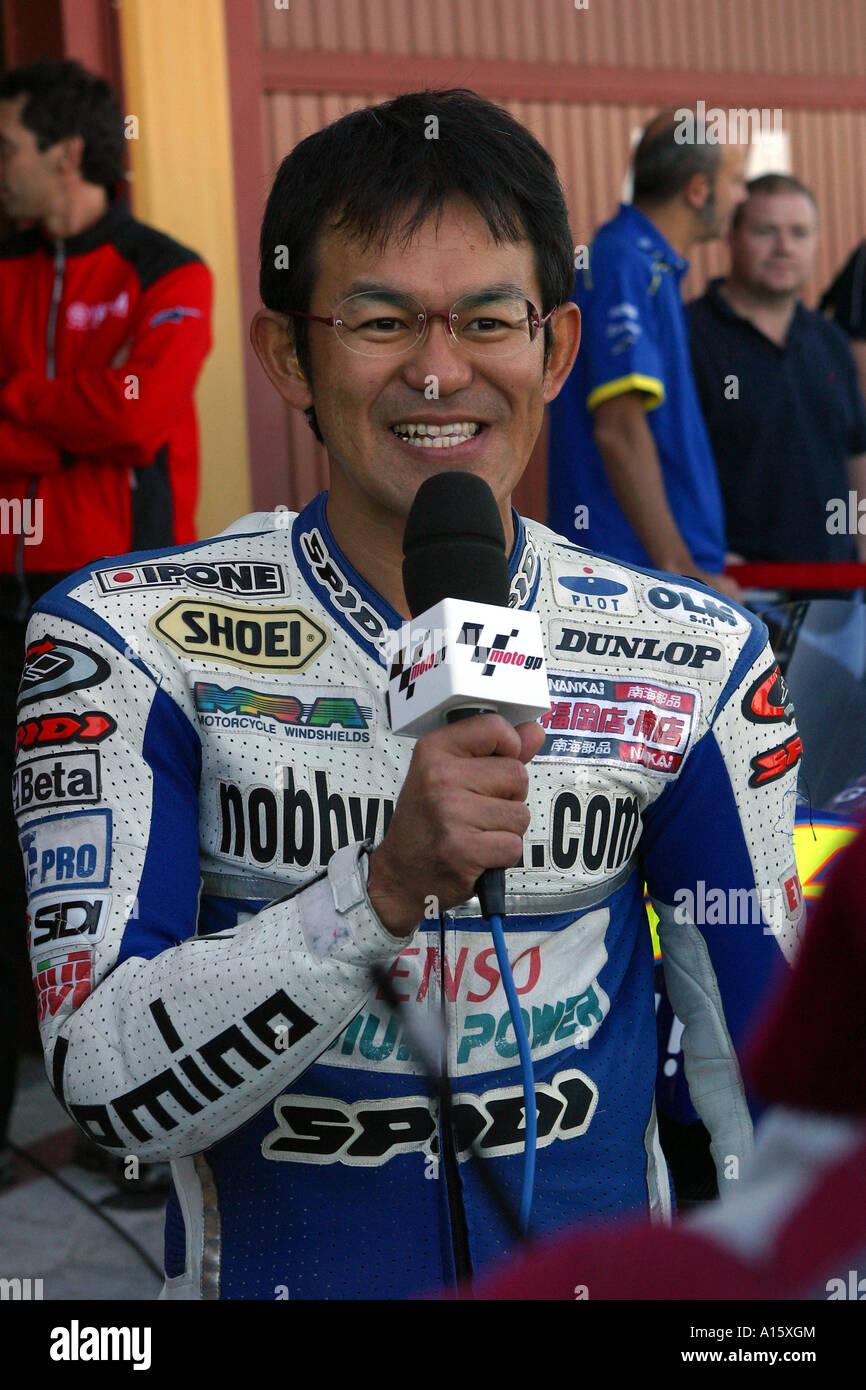 japanese 125cc racing specialist nobby ueda - Stock Image