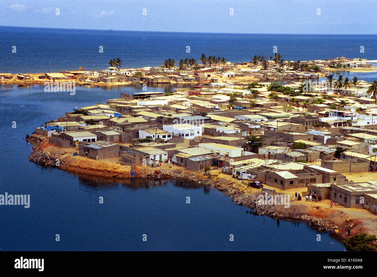 The capital of Luanda in Angola is shown in this file photo. President Jose Eduardo dos Santos who has led Angola since 1979 - Stock Image