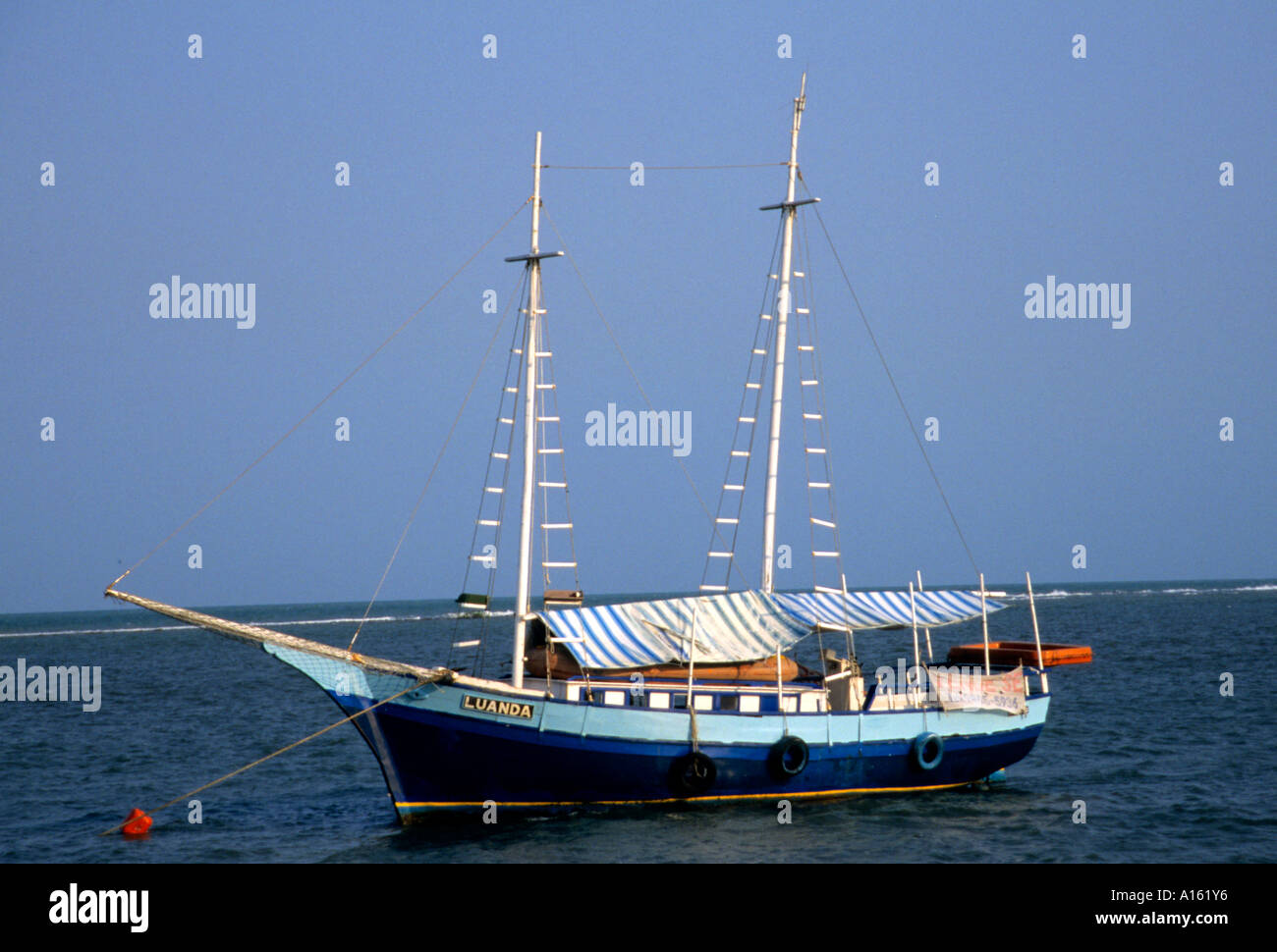 Bahia Brazil l Brazilian boat sailing fishing sea - Stock Image