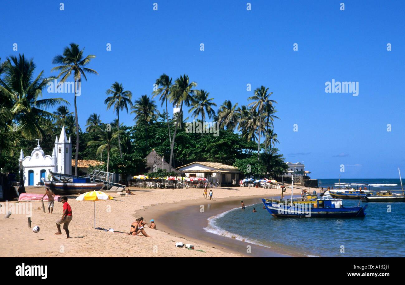 Bahia Brazil Brazilian beach sand sea blue shore  shores - Stock Image