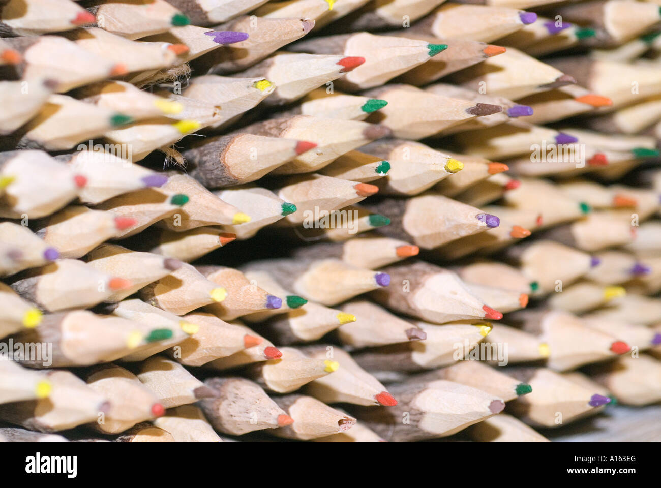 natural wooden pencils Stock Photo
