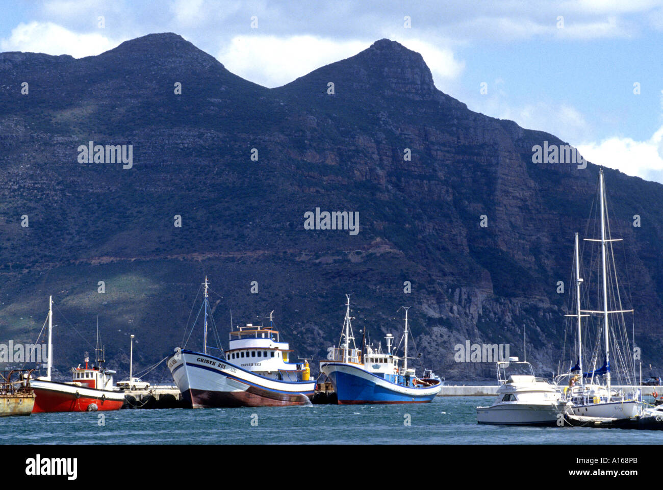 Hout Bay Boat Port Harbour Cape South Africa Sea - Stock Image