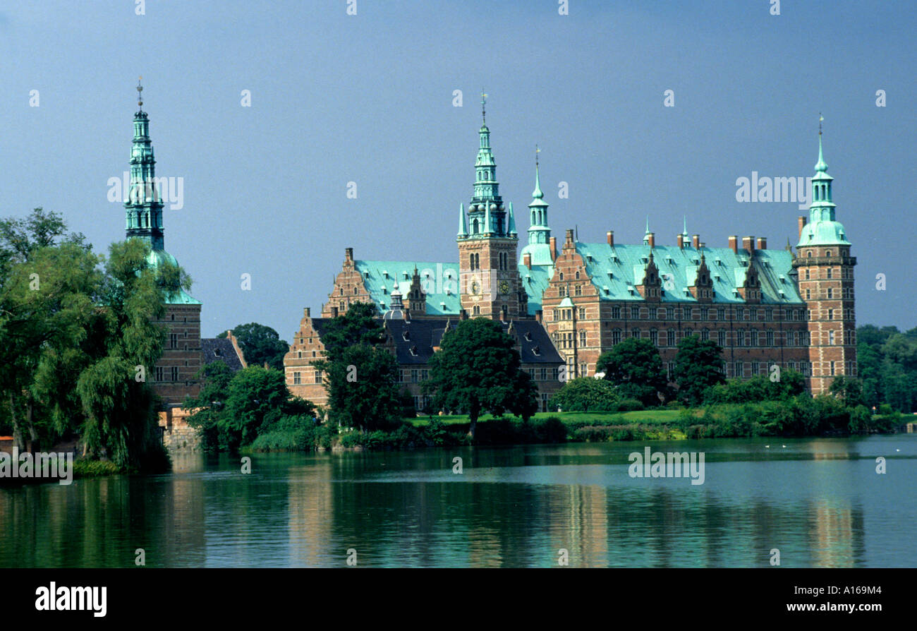 Denmark Hillerod Frederiksborg Castle palace Royal  King Frederick II Stock Photo