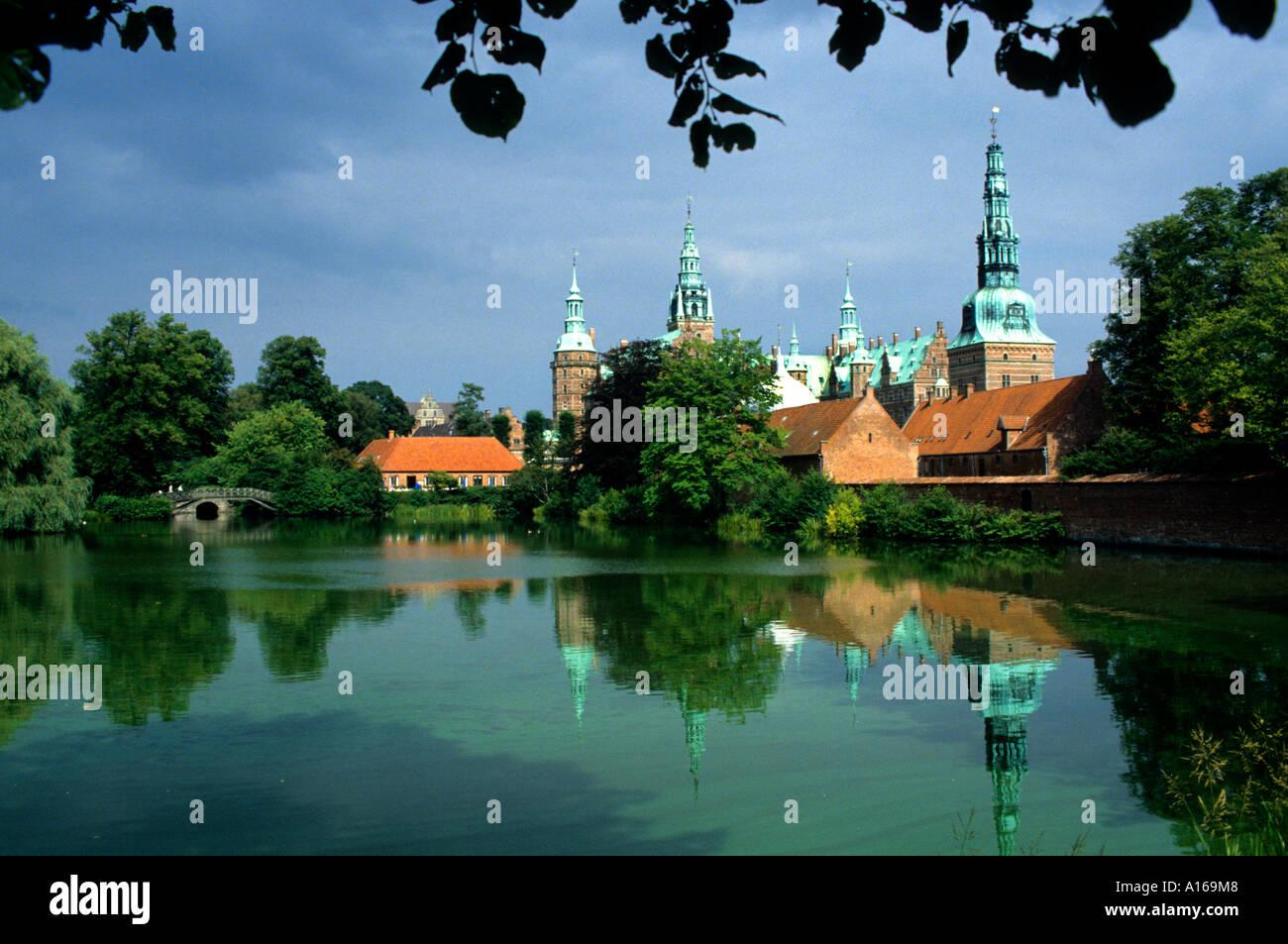 Denmark Hillerod Frederiksborg Castle palace Royal  King Frederick II - Stock Image