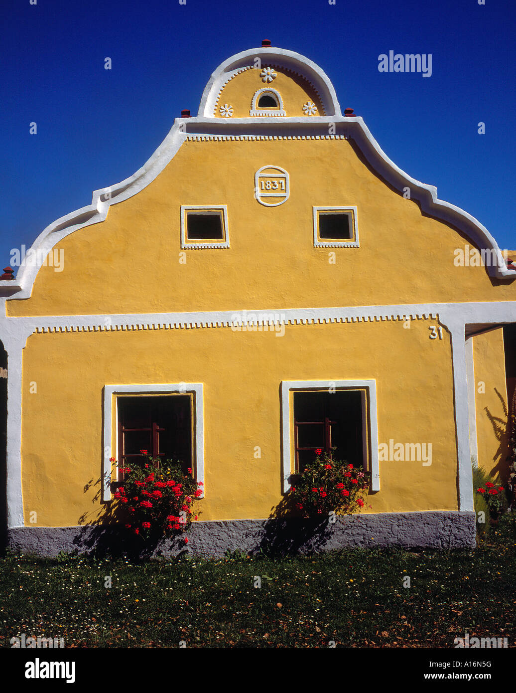 historical  village of  Holasovice Ceske Budejovice Czech Republic, Europe. Photo by Willy Matheisl - Stock Image