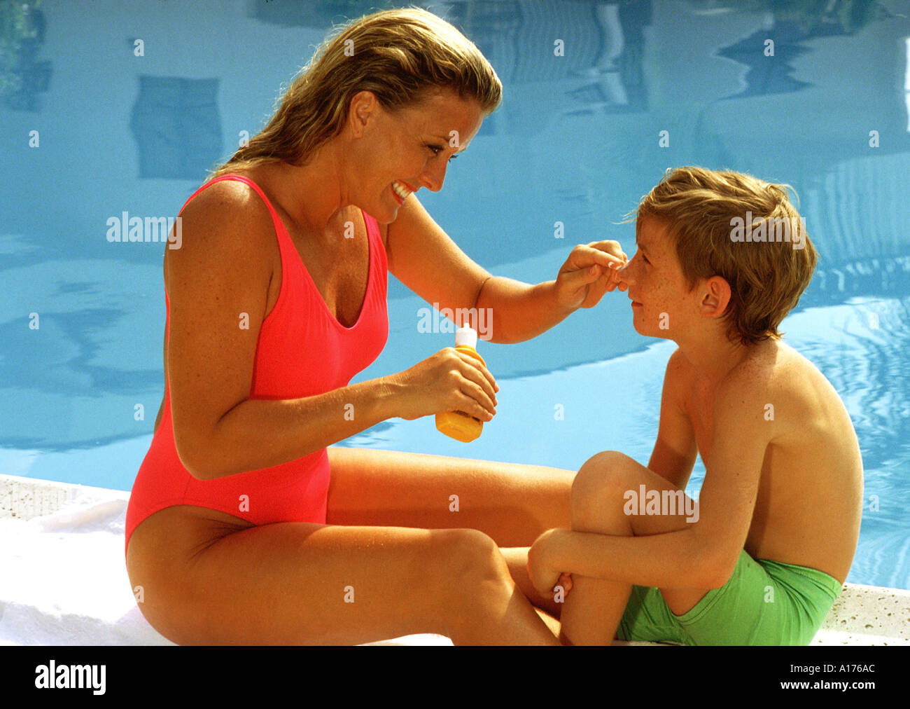 Mother and son naked