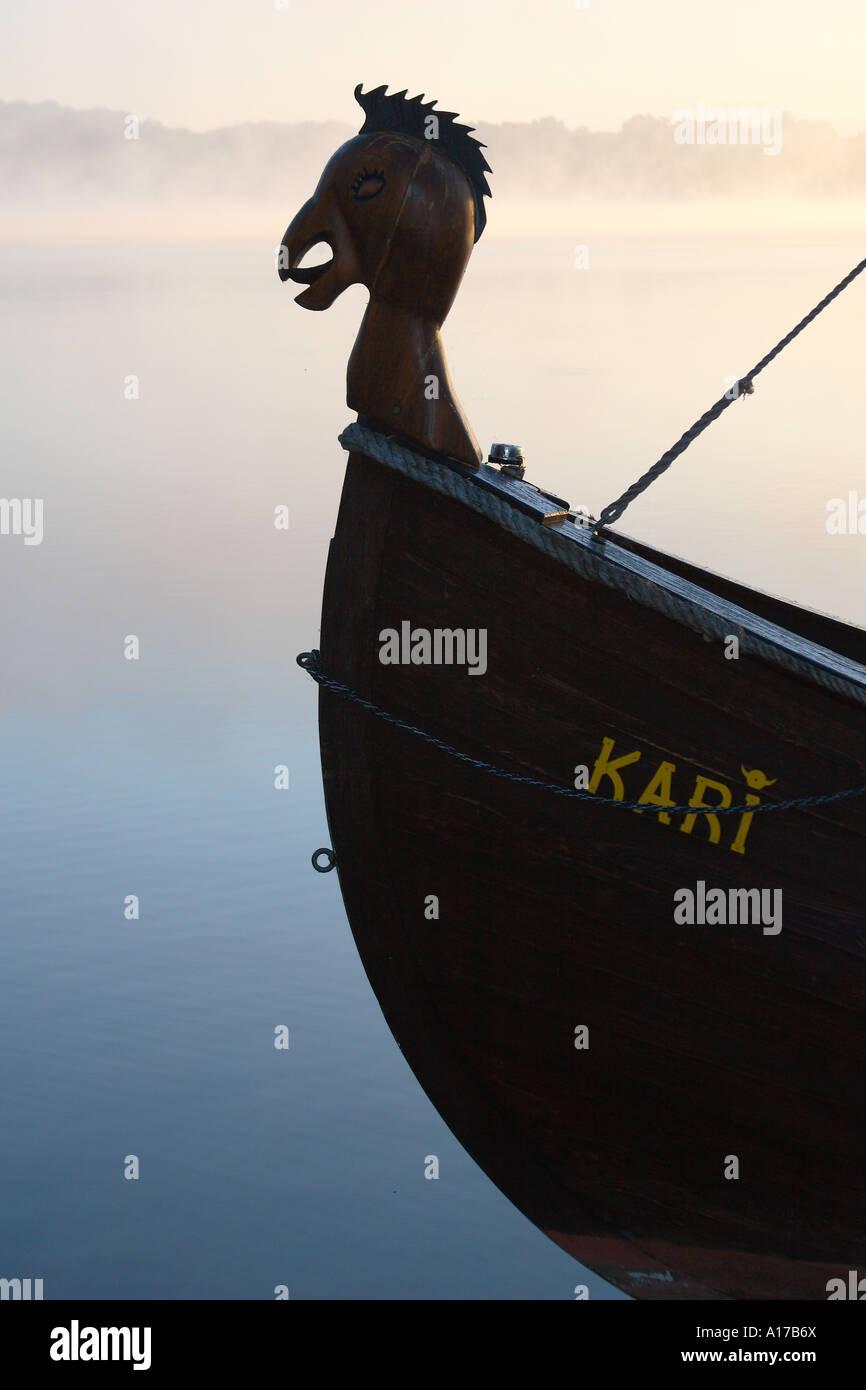 vikings; ship - Stock Image
