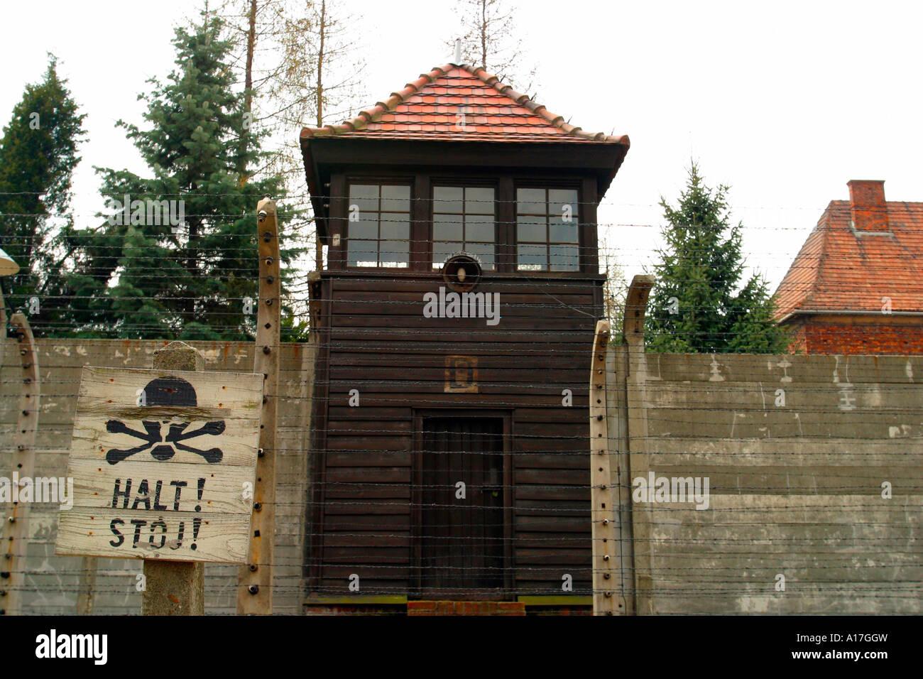 The Auschwitz concentration camp, Oswiecim, Poland. - Stock Image
