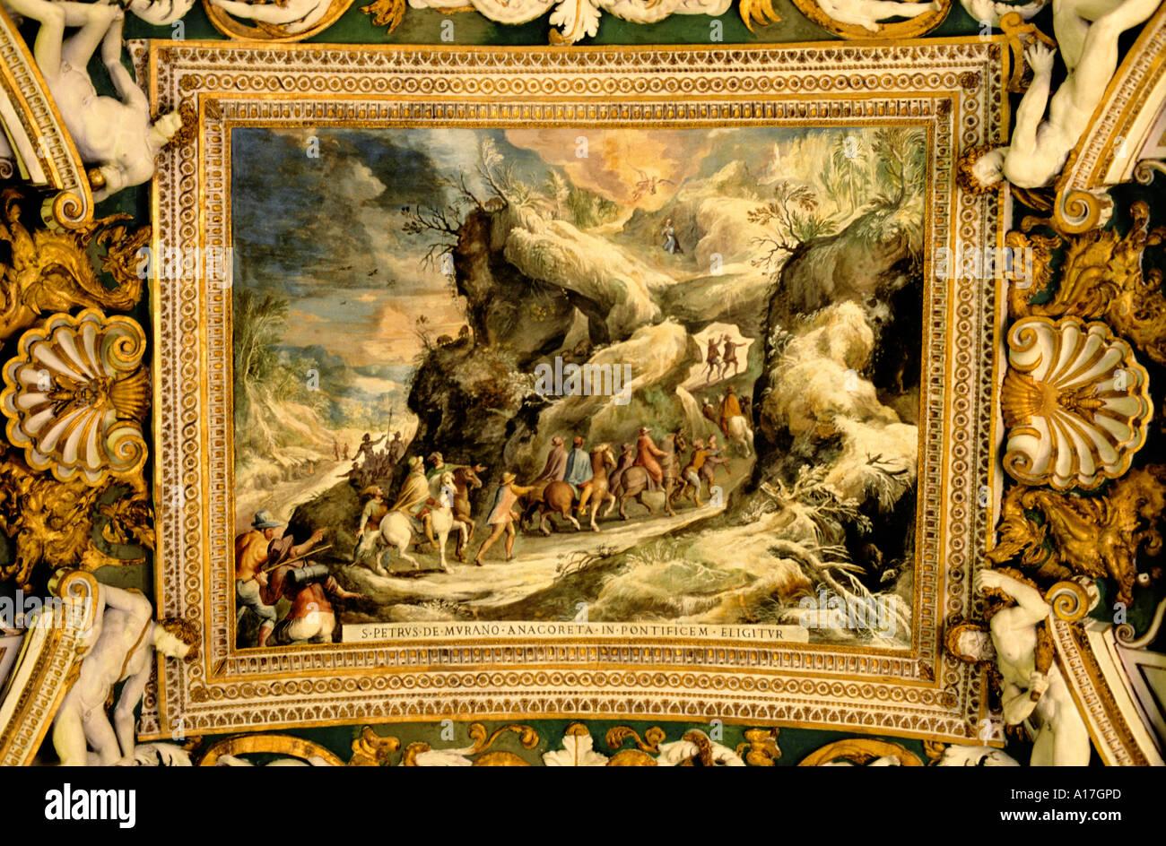 Vatican Fresco painting wall Rome Italy art Stock Photo: 5811052 - Alamy