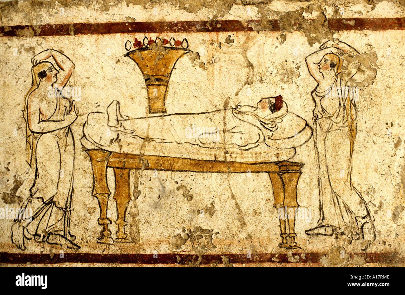 Paestum fresco roman Italy wall painting Stock Photo: 5812365 - Alamy
