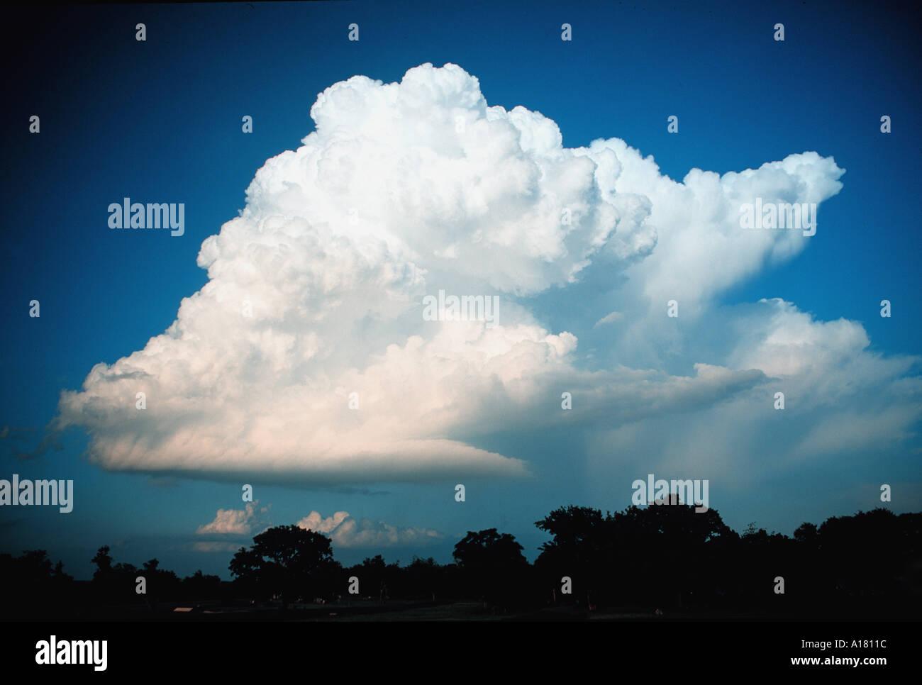 Cumulonimbus or thunderhead or thundercloud or cumulus cloud - Stock Image