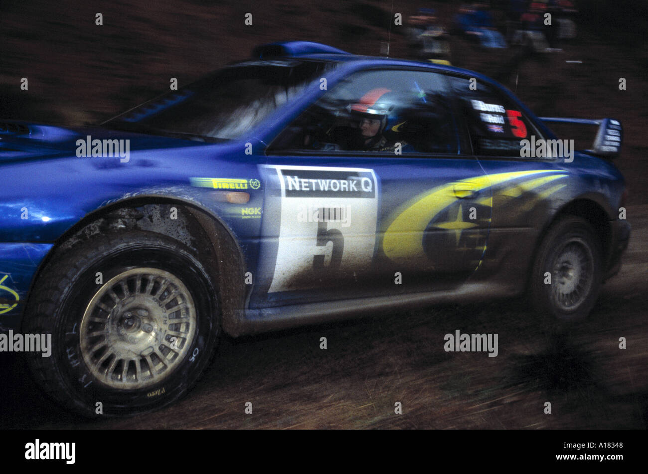 Blue Subaru Impreza Rally Car Stock Photos Blue Subaru Impreza