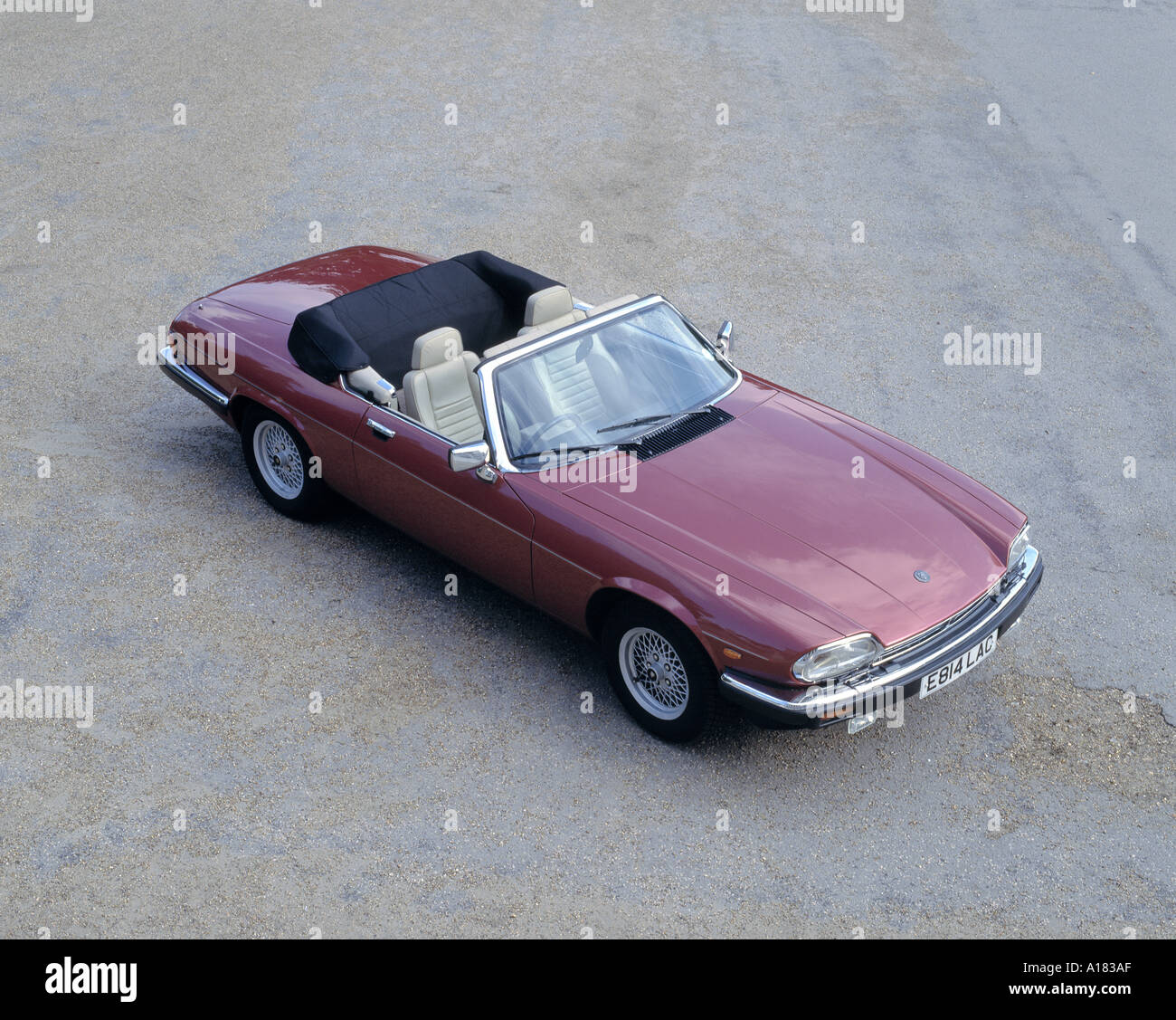 1988 Jaguar XJS V12 convertible - Stock Image