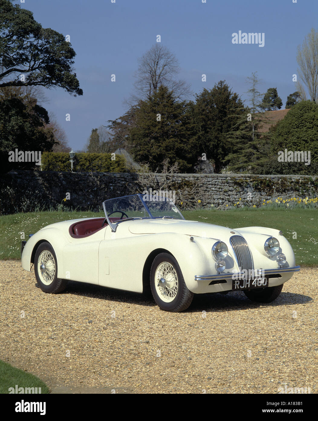 1954 Jaguar XK 120 - Stock Image