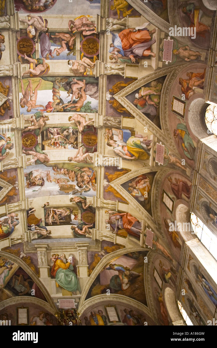 Sistine Chapel Ceiling Frescoes By Michelangelo Vatican
