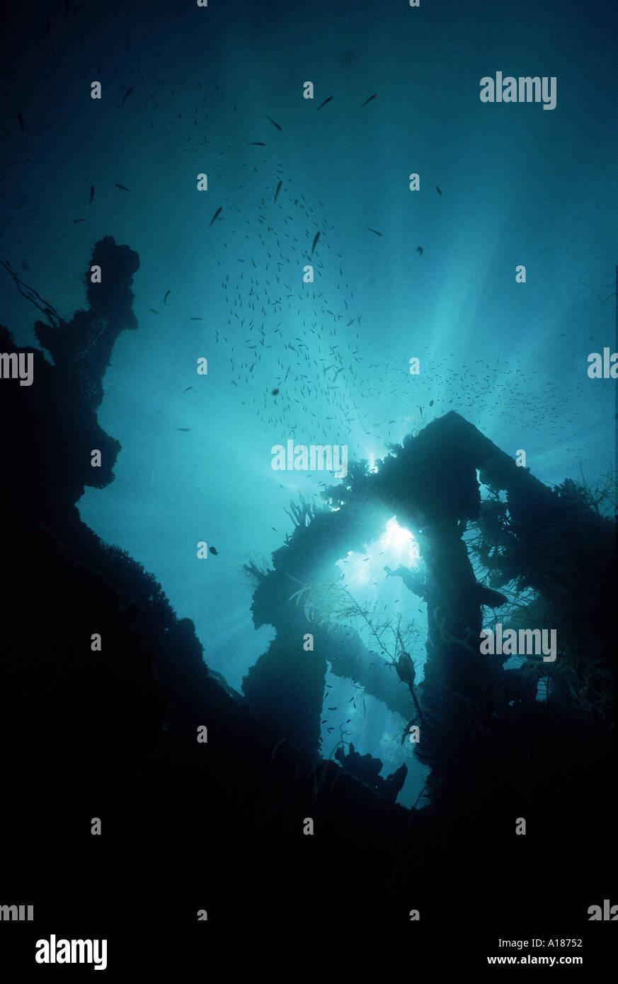 Japense world war Gunboat wreck Coran Bay J Jackson - Stock Image