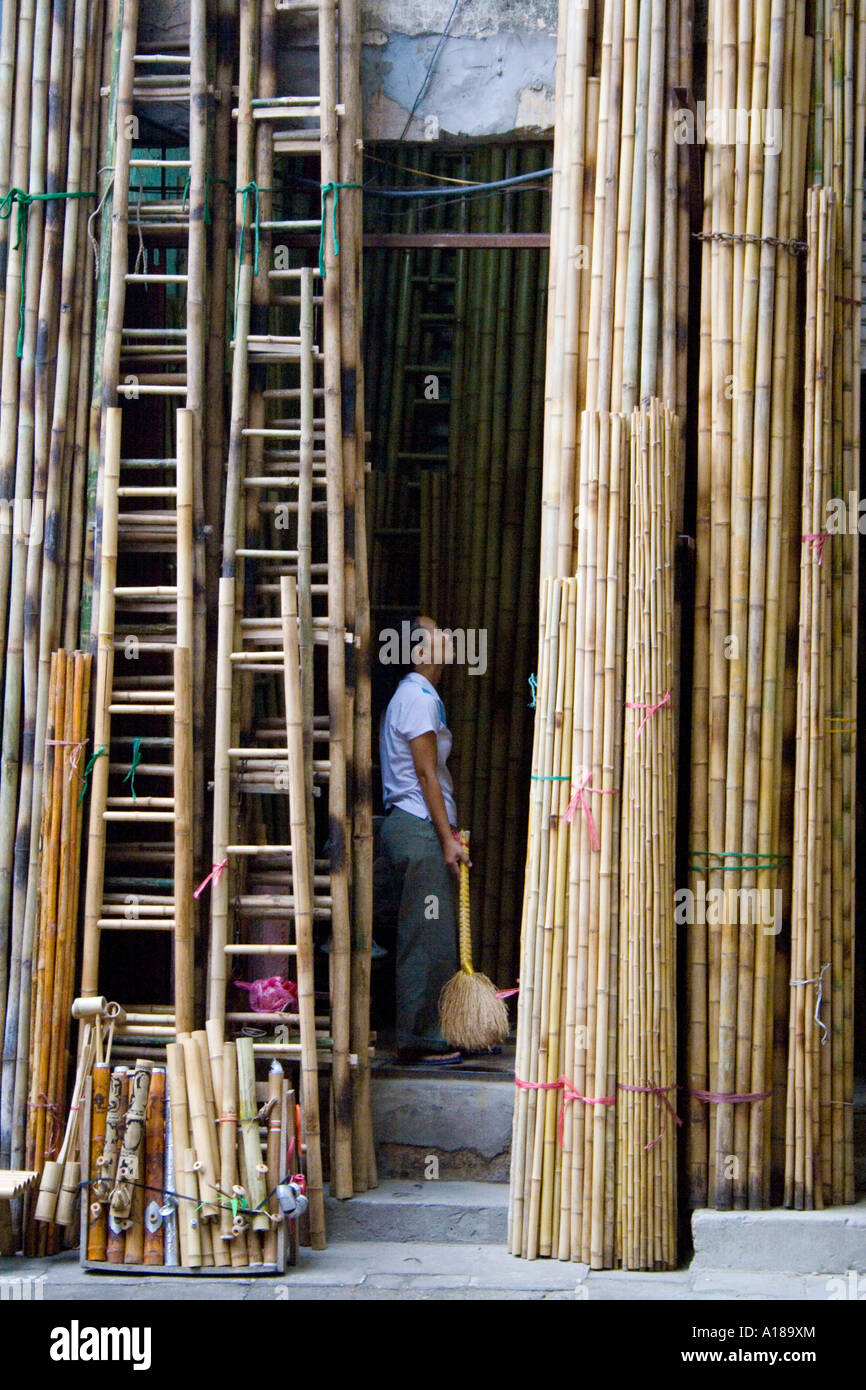 how to build a bamboo ladder