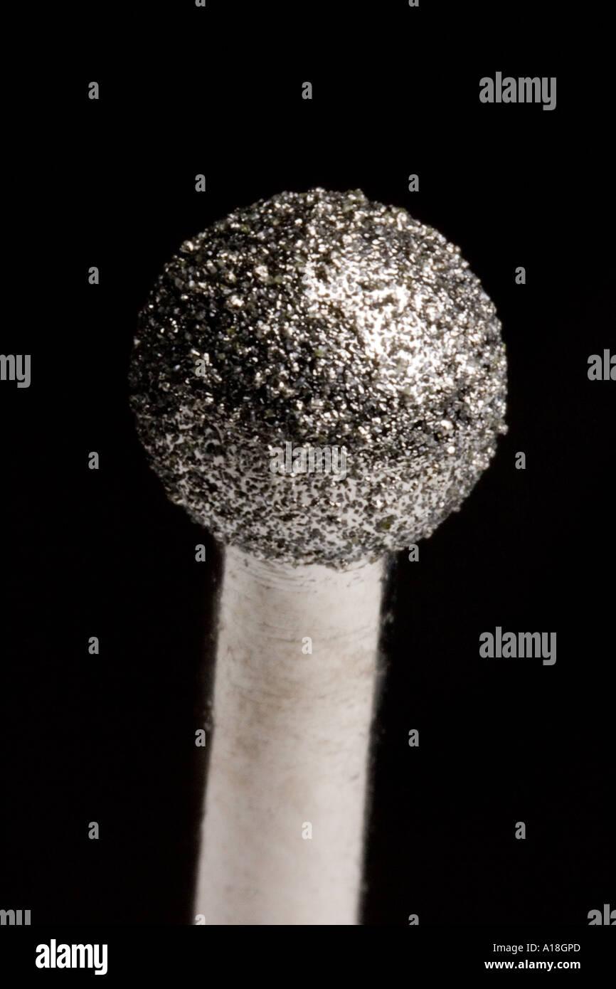 diamond cutting and engraving drill / burr bit - Stock Image