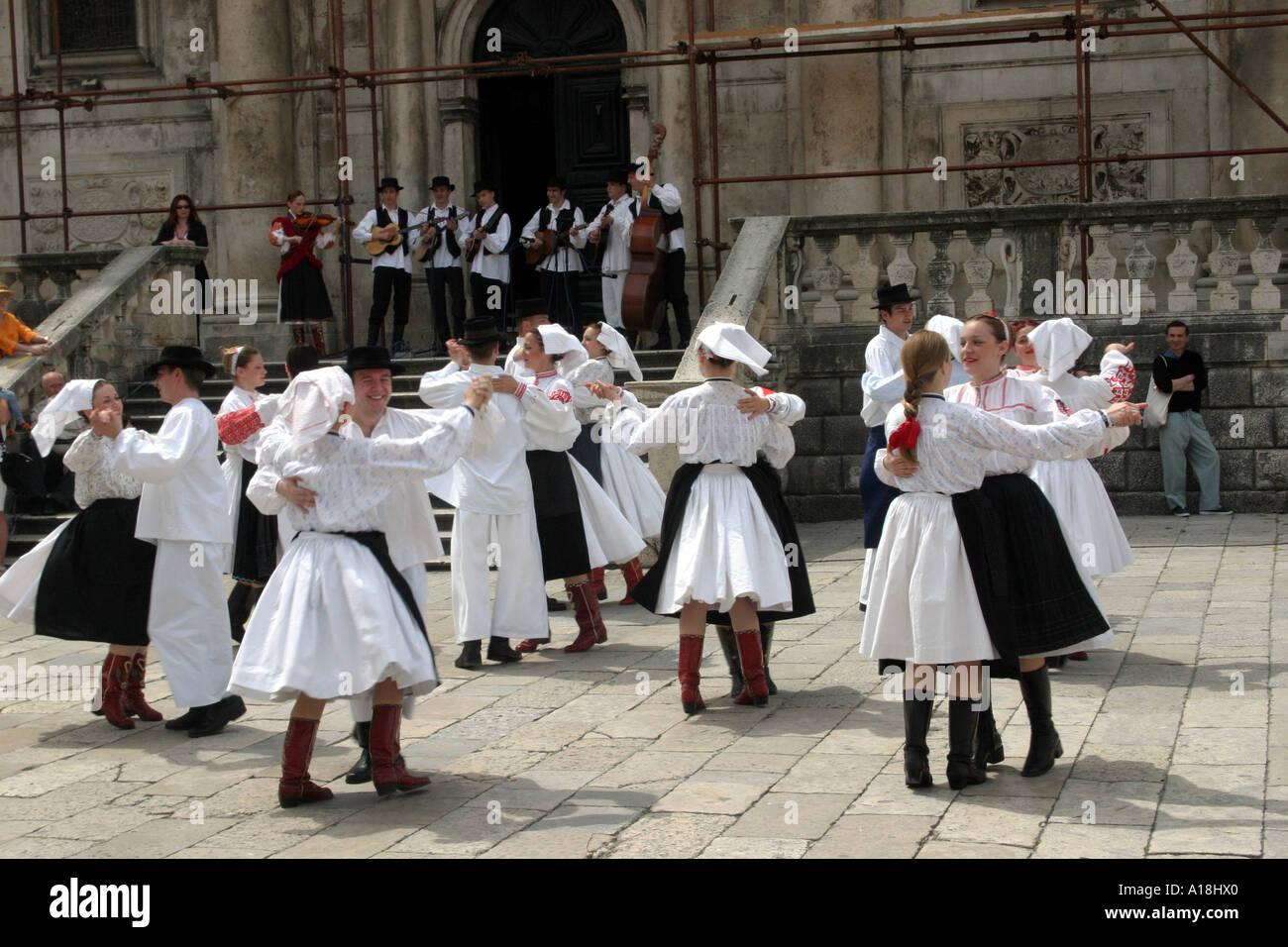 CROATIA - Dubrovnik Folk Music Festival - Stock Image