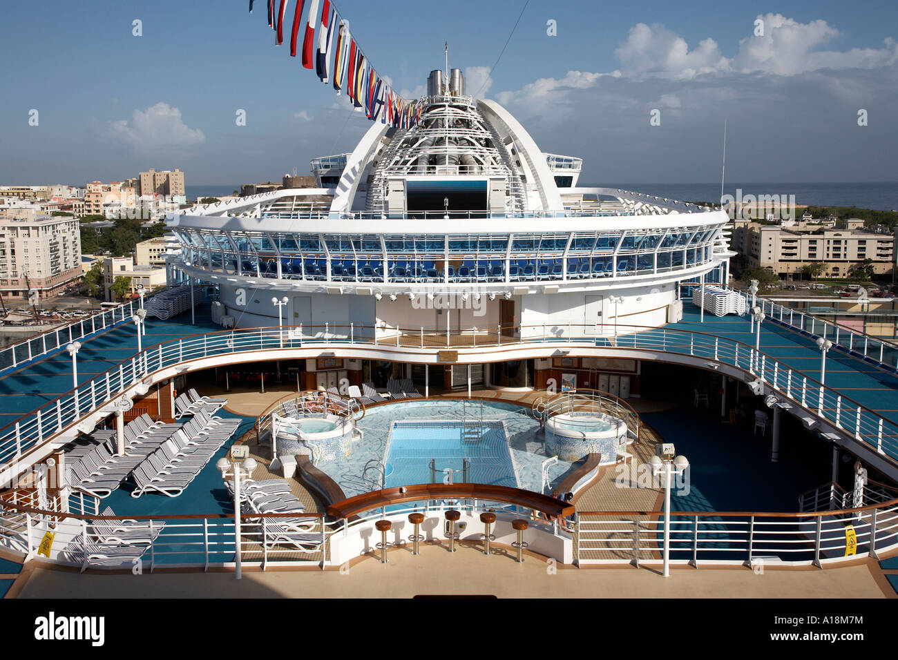 view across the top deck of the