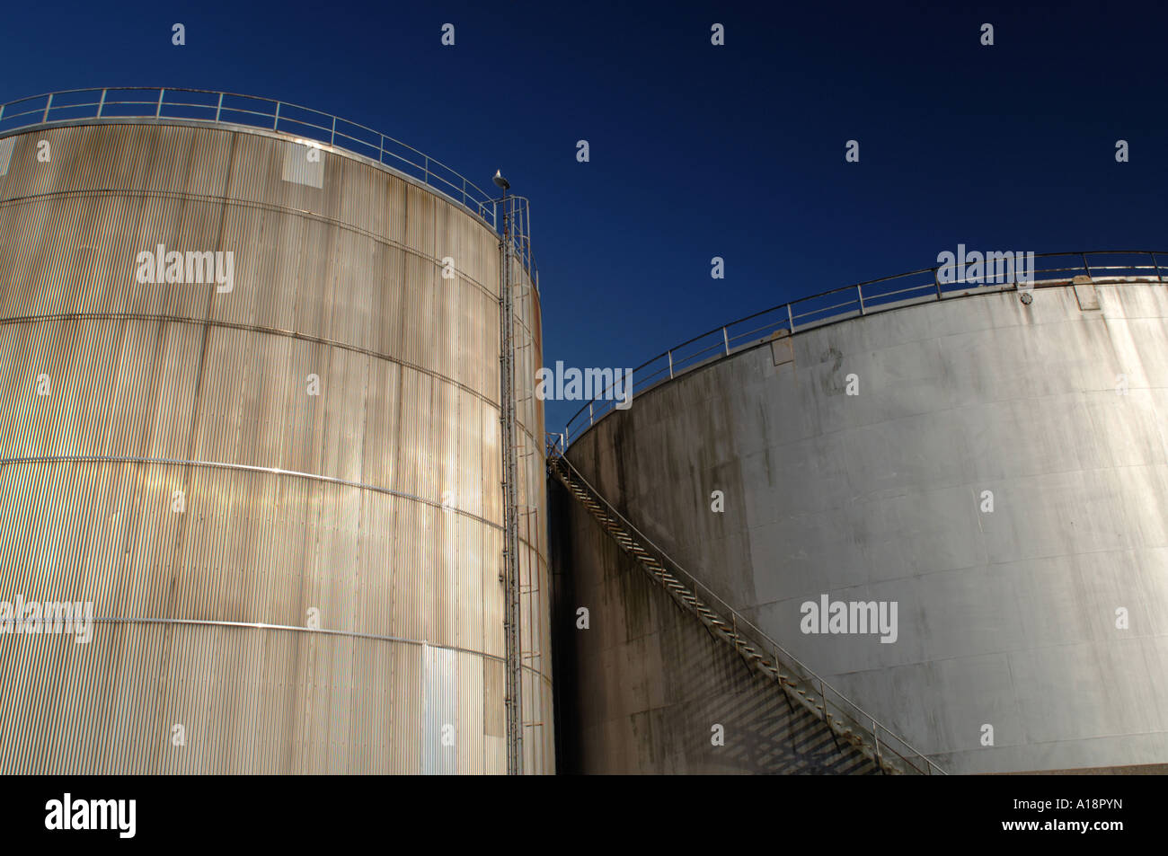 Semi abstract image of gas storage containers Stock Photo 10180904