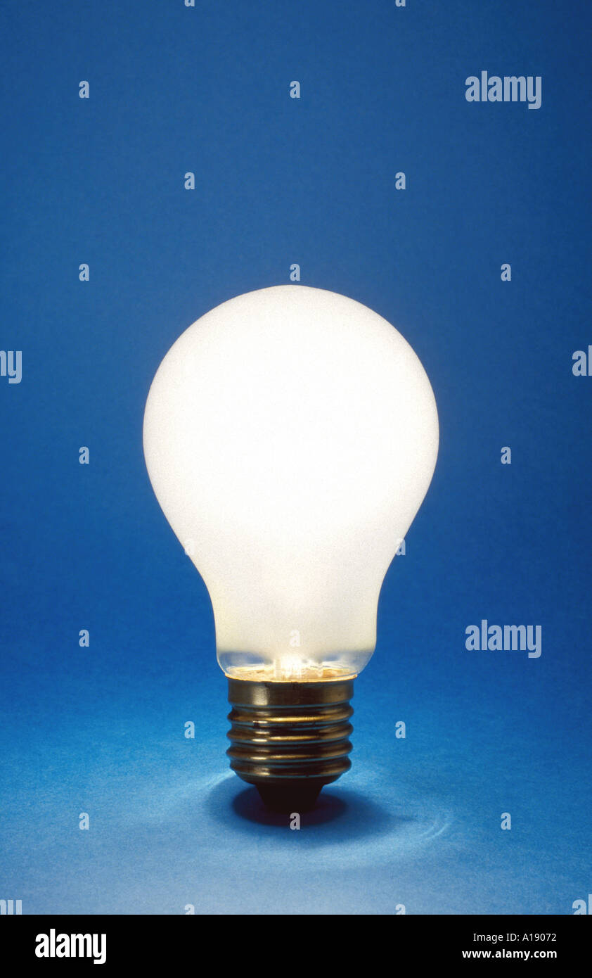 Light bulb idea blue - Stock Image