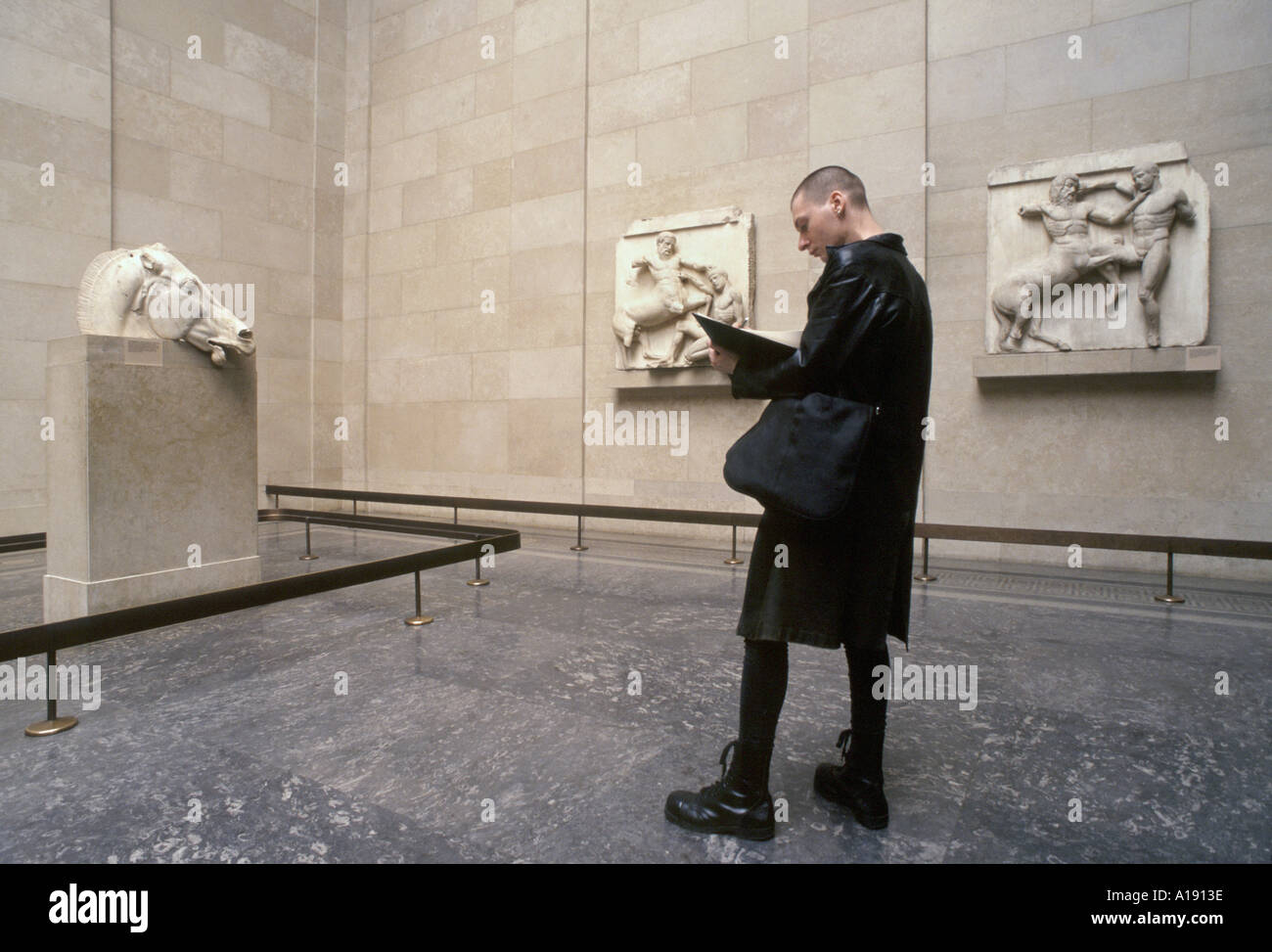 The Elgin Marbles at the British Museum London - Stock Image